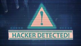 Hackerelement und -pixel lärmen Störschub mit dem ermittelten Aufschrift Hacker vektor abbildung