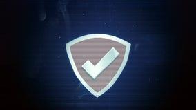 Hackerelement und -pixel lärmen Störschub mit dem Schutzschild lizenzfreie abbildung