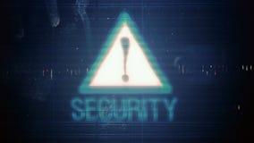 Hackerelement und -pixel lärmen Störschub mit der Aufschriftsicherheit vektor abbildung