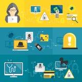 Hackerfahnen eingestellt Lizenzfreies Stockfoto