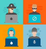 Hackers activity vector illustration Royalty Free Stock Photography
