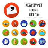 Hackers and hacking set icons in flat style. Big collection of hackers and hacking vector symbol stock illustration. Hackers and hacking set icons in flat design royalty free illustration
