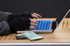 Hackers hands on keybord Royalty Free Stock Photo