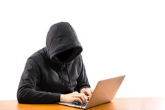 Hackers programmer look and search data Royalty Free Stock Image