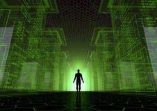 Hackervärld stock illustrationer