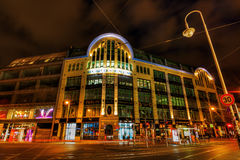 Hackesche Hoefe in Berlin, Germany, at night royalty free stock photo