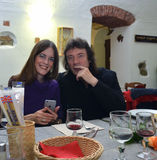 Hackett and his wife Jo. In a private party,Varazze Italy May 8 2015 Royalty Free Stock Image