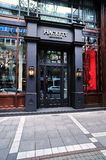 Hackett London fashion store. Front view of Hackett London luxury clothes and accessories store in Frankfurt at Goethe street Royalty Free Stock Image