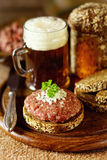 Hackfleisch traditionnel allemand image stock