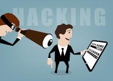 hacking Fotografía de archivo libre de regalías