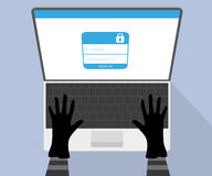 Hacking account of social networking. Stock Photo