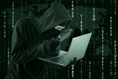 Hacking activity Stock Photography