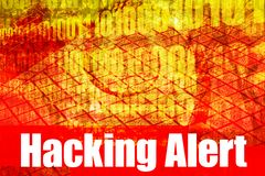 Hacking Alert System Message. Abstract Technology Background Royalty Free Stock Images