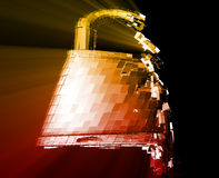 Hacking bypass security. Hacking bypass compromised security with broken lock Stock Photography