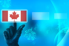 Hacking Canada concept Royalty Free Stock Photo
