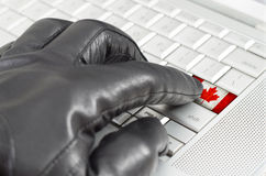 Hacking Canada concept Stock Photography
