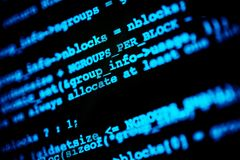 Hacking Codes Stock Photography