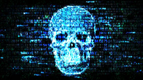 Hacking Confidential Information. Hackers On The Internet Stock Image