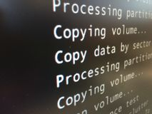 Hacking-copy data Royalty Free Stock Photo