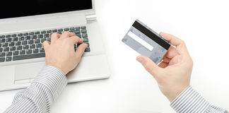 Hacking a credit card Stock Photos