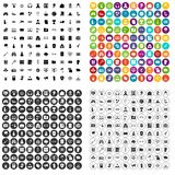 100 hacking icons set variant. 100 hacking icons set in 4 variant for any web design isolated on white royalty free illustration