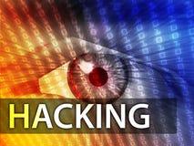 Hacking illustration Stock Images