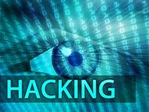 Hacking illustration Royalty Free Stock Images