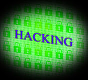 Hacking Online Indicates World Wide Web And Unauthorized Stock Photos