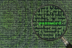 Hacking for password Stock Photo