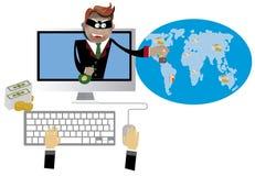 Hacking and phishing Stock Photography