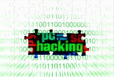 Hacking puzzle concept Stock Photo