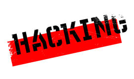 Hacking rubber stamp Stock Photography