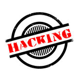 Hacking rubber stamp Royalty Free Stock Images