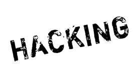 Hacking rubber stamp Stock Photo