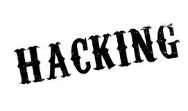 Hacking rubber stamp Royalty Free Stock Photo