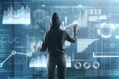 Hacking and theft concept stock photography
