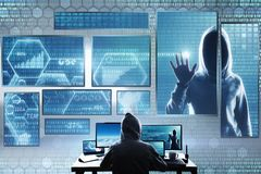 Hacking and theft concept royalty free stock photo