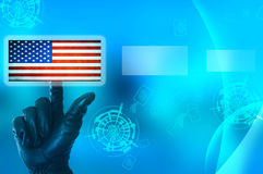 Hacking United States of America concept Royalty Free Stock Photos