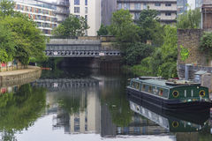 Hackney όχθη ποταμού φυτιλιών Στοκ Φωτογραφίες