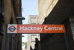 Hackney centrali overground obraz royalty free