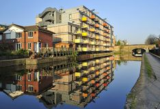 Hackney de logement moderne Londres R-U image stock