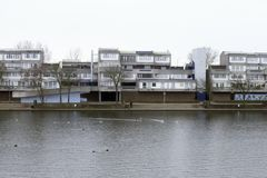 Binsey Walk, South Mere, Thamesmead stock image