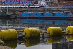 Hackney Wick brzeg rzeki Zdjęcie Royalty Free