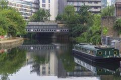 Hackney Wick brzeg rzeki Zdjęcia Stock