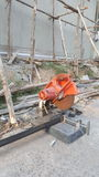 Hacksaw at easy building construction site Stock Photography