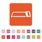 The hacksaw icon. Hacksaw symbol. Flat Royalty Free Stock Photo