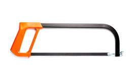 Hacksaw isolated on the white. Hacksaw isolated on the white background Stock Photo