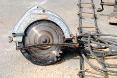 Hacksaw machine. Hacksaw machine, the construction tool Royalty Free Stock Image