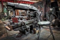 Hacksaw machine Stock Image
