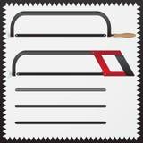 Hacksaw on metal Royalty Free Stock Image